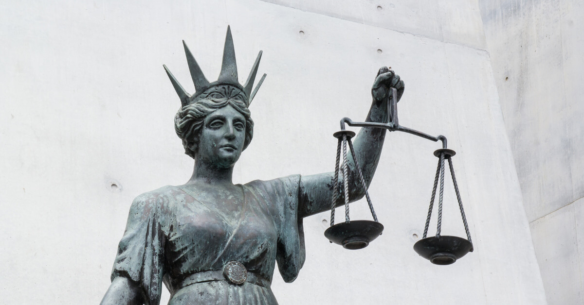Statue with scales of justice