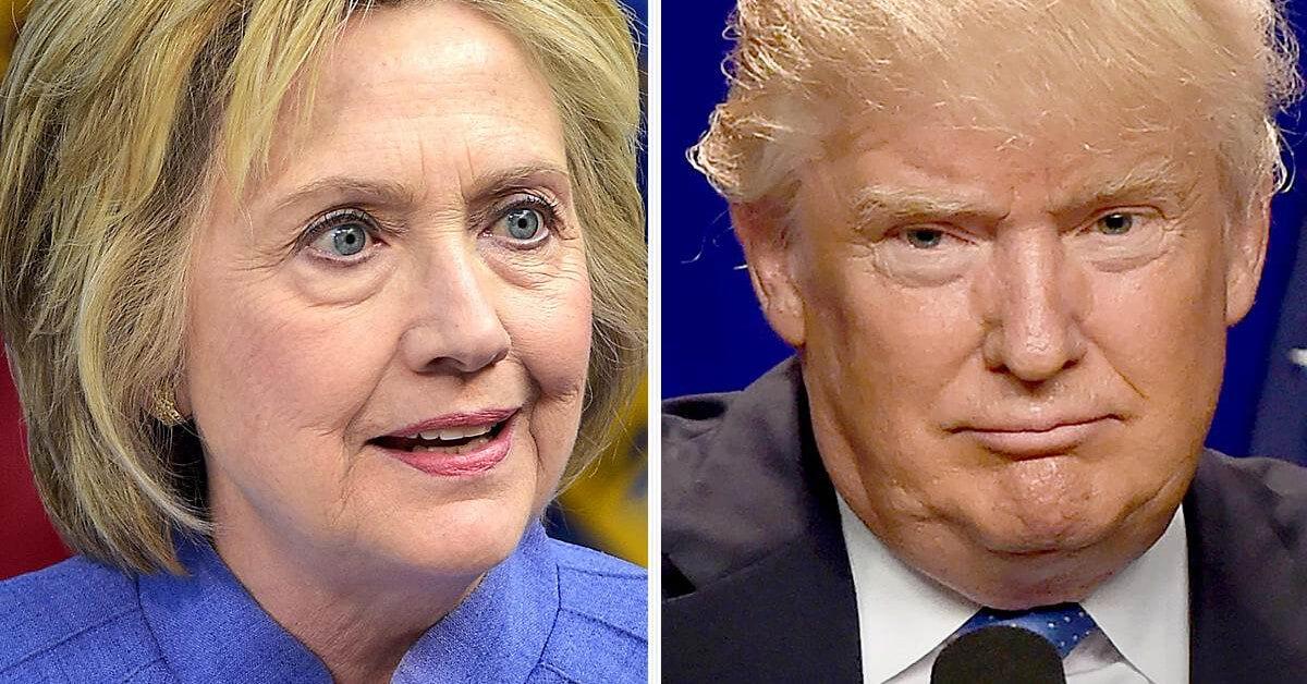 Clinton and Trump faces