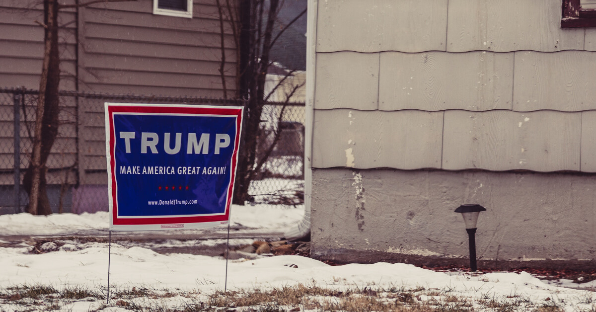 """Make America Great Again"" yard sign"